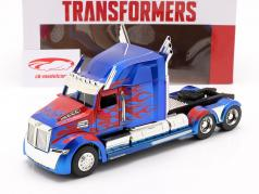 Western Star 5700 XE Optimus Prime Transformers (2007) rood / blauw 1:24 Jada Toys