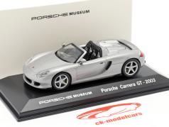 Porsche Carrera GT Ano 2003 prata Porsche Museu Edição 1:43 Welly
