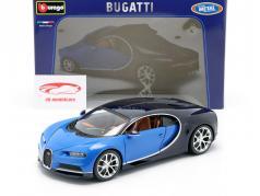 Bugatti Chiron 年 2016 蓝 / 深蓝色 1:18 Bburago