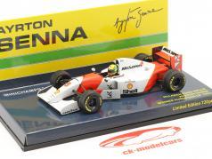Ayrton Senna McLaren MP4/8 #8 Gagnant L'Europe  GP F1 1993 1:43 Minichamps