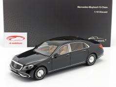 Mercedes-Benz Maybach Classe S. Anno di costruzione 2019 ossidiana nero 1:18 Almost Real