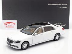 Mercedes-Benz Maybach Classe S. Anno di costruzione 2019 diamante bianca 1:18 Almost Real