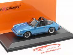 Porsche 911 Targa Bouwjaar 1977 blauw metalen 1:43 Minichamps