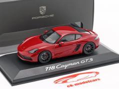 Porsche 718 Cayman GTS 4.0 karminrot / schwarz 1:43 Minichamps