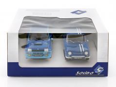 2 auto impostato Renault R5 Turbo & Renault R8 Gordini blu 1:18 Solido