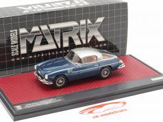 Aston Martin DB2/4 Vignale HRH Roi Baudouin 1954 bleu métallique 1:43 Matrix
