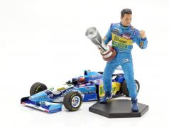 Michael Schumacher figura Fórmula 1 Campeão mundial 1995 1:10 MBA