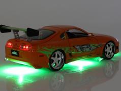 Brian's Toyota Supra 1995 电影 Fast & Furious (2001) 用 数字 1:18 Jada Toys