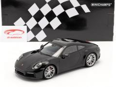 Porsche 911 (992) Carrera 4S Byggeår 2019 sort 1:18 Minichamps