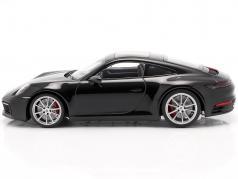 Porsche 911 (992) Carrera 4S Bouwjaar 2019 zwart 1:18 Minichamps