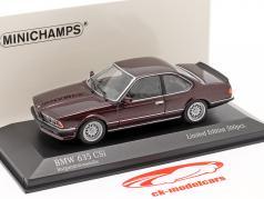 BMW 635 CSI (E24) Année de construction 1982 sombre rouge métallique 1:43 Minichamps