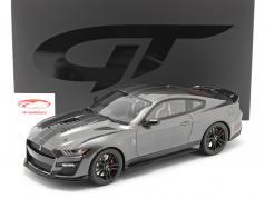 Ford Mustang Shelby GT500 Anno di costruzione 2020 magnetico grigio 1:12 GT-Spirit