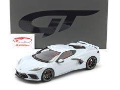 Chevrolet Corvette C8 Año de construcción 2020 gris cerámico metálico 1:18 GT-Spirit
