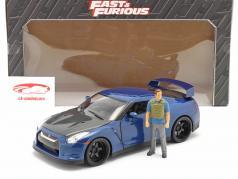 Brian's Nissan GT-R (R35) 2009 Fast & Furious 7 (2015) Con figura 1:18 Jada Toys