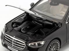 Mercedes-Benz S-klasse (V223) Byggeår 2020 onyx sort 1:18 Norev