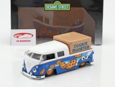 Volkswagen VW Bus PickUp 1963 Avec Figurine de la rue Sésame Biscuit monstre 1:24 Jada Toys