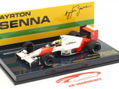 A. Senna McLaren MP4/5B #27 High Nose Test F1 World Champion 1990 1:43 Minichamps