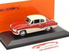 Wartburg 311 Coupe Baujahr 1958 rot / weiß 1:43 MInichamps