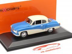 Wartburg 311 Coupe jaar 1958 blauw / wit 1:43 MInichamps