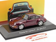 Porsche 911 Carrera 4 30 Anni 911 vino rosso metallico 1:43 Spark