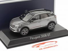 Peugeot 3008 GT year 2020 platinum grey 1:43 Norev