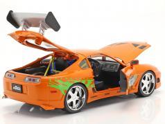 Brian's Toyota Supra 1995 Film Fast & Furious (2001) Med figur 1:18 Jada Toys