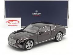 Bentley Continental GT Année de construction 2018 prune métallique 1:18 Norev