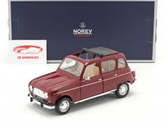 Renault 4L Byggeår 1966 mørk rød 1:18 Norev