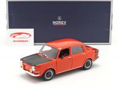 Simca 1000 Rallye 2 Byggeår 1971 sarde rød 1:18 Norev