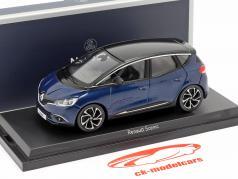 Renault Scenic ano 2016 cosmos azul metálico / Preto 1:43 Norev