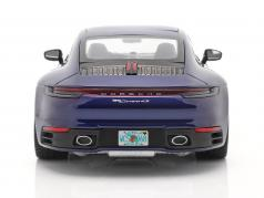Porsche 911 (992) Carrera 4S Год постройки 2019 горечавка синий 1:18 Minichamps