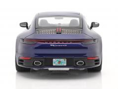 Porsche 911 (992) Carrera 4S Bouwjaar 2019 gentiaan blauw 1:18 Minichamps