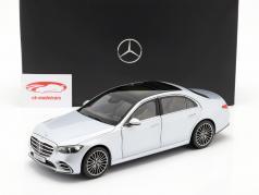 Mercedes-Benz Classe S (V223) Ano de construção 2020 prata de alta tecnologia 1:18 Norev
