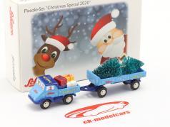 Unimog 401 mit Ladegut Weihnachts-Edition 2020 1:90 Schuco Piccolo