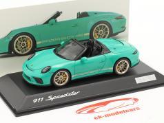 Porsche 911 (991 II) Speedster Jade groen 1:43 Spark