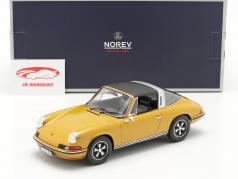 Porsche 911 S Targa Byggeår 1973 guld metallisk 1:18 Norev