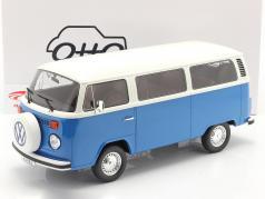 Volkswagen VW Bus Tipo 2 Año de construcción 1978 azul / Blanco 1:12 OttOmobile