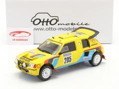 Peugeot 205 T16 #205 vencedora Rallye Dakar 1987 Vatanen, Giroux 1:18 OttOmobile