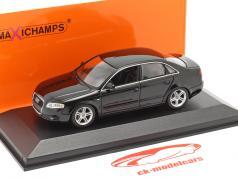 Audi A4 jaar 2004 zwart 1:43 Minichamps