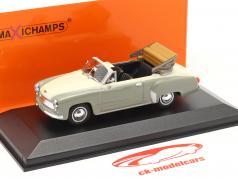 Wartburg 311 Cabriolet jaar 1958 grijs / wit 1:43 Minichamps