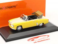 Wartburg 311 カブリオレ 年 1958 黄 / 白い 1:43 Minichamps