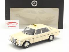 Mercedes-Benz 200-250 E (W114/115) taxi jaar 1968 licht ivoor 1:18 Norev