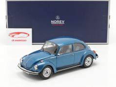 Volkswagen VW Kever 1303 City Bouwjaar 1973 blauw metalen 1:18 Norev