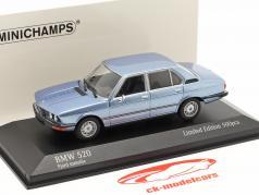 BMW 520 Año de construcción 1974 fiordo azul metálico 1:43 Minichamps