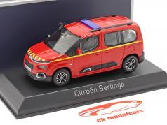 Citroen Berlingo Pompiers Año de construcción 2020 rojo 1:43 Norev