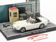 Toyota 2000GT James Bond You only live twice (1967) Con personaggi 1:43 Ixo