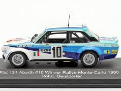 Fiat 131 Abarth #10 优胜者 Rallye Monte Carlo 1980 Röhrl, Geistdörfer 1:43 CMR