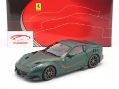 Ferrari F12 TDF Année de construction 2015 opaco vert 1:18 BBR
