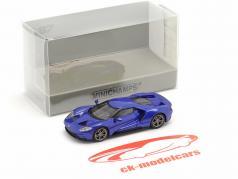 Ford GT Ano de construção 2018 azul metálico 1:87 Minichamps