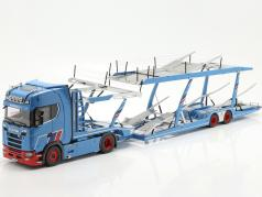 Set Scania V8 730S with Lohr Car transporter Mosolf 1:18 NZG